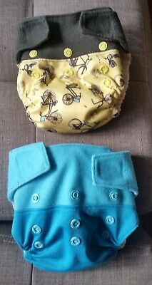 Grovia Hybrid One Size Cloth Diaper Shell and Inserts Nappies Blue Bicycle