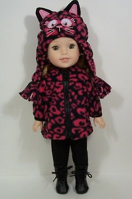 Kitty Cat Hoodie Pants Jacket Doll Clothes For 14 AG Wellie Wisher Wishers (Debs