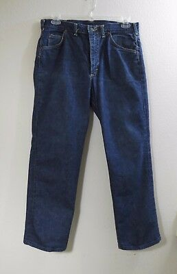 Vintage 60s Lee Sanforized Denim Blue Jeans - Dark Xlnt A1 Condition 34 x 29