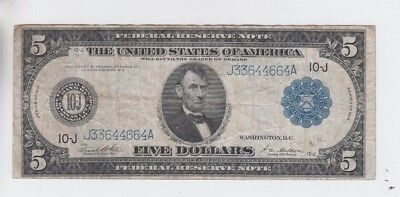 Federal Reserve Note $5 1914 fine