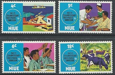 NIUE 1972- South Pacific Commission - Full set (4v) - SG 170-173, MNH