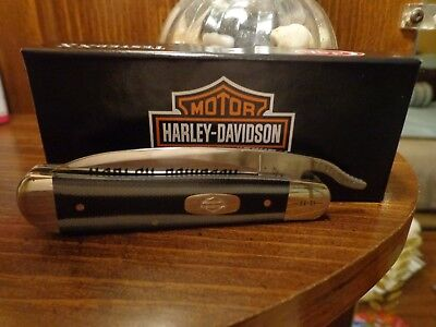 Case XX Harley Davidson Russlock with the the Rare Drop Point Pocket Knife