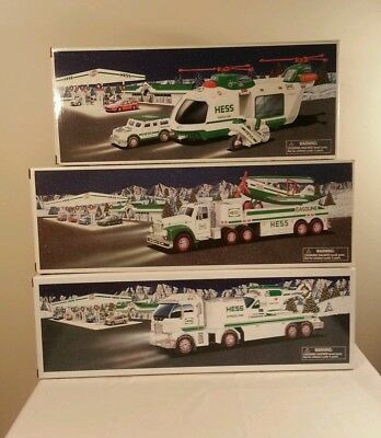 Hess truck lot .Years 2001,2002 and 2006.