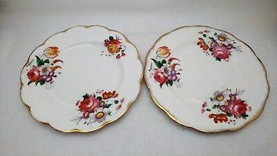 "Set of TWO Royal Albert Lady Angela 8 1/4"" Salad Plates One Brush One Painted"