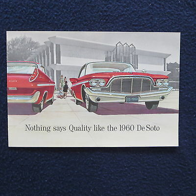 "DE SOTO 1960 Dealer Sales Brochure Booklet 6"" x 9"" 10 pages EUC"