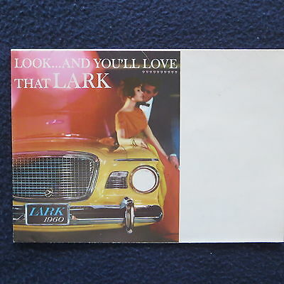 "LARK 1960 Auto Dealer Sales Brochure Fold Out 6 1/2"" x 9"" to Poster Size EUC"