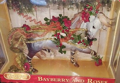 Breyer Holiday Horse BAYBERRY & ROSES 2014 Christmas Mulberry Grey Espirit NEW