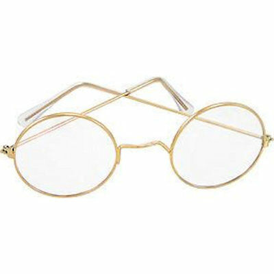 Round Eye Glasses Santa & Mrs Claus OLD Fashioned Spectacles Franklin steampunk