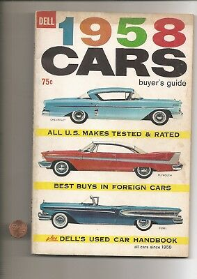 DELLS 1958 CARS BUYERS GUIDE BOOK 144 pgs