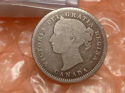 CANADA 1871 H Victoria  10 Cents Better Date #3K