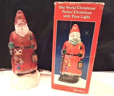 "Merck Old World Christmas ""Father Christmas with Toys Light""- 1993 w/Box"