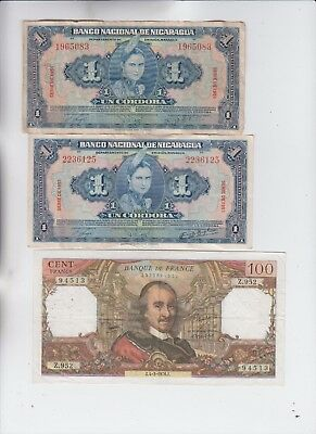 World Currency Collection  3 notes vf plus