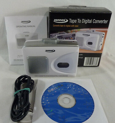 Zennox Portable Tape To Digital Converter - Audio Cassette To PC / CD / MP3