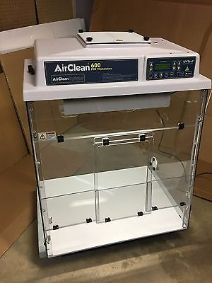 AirClean Systems 600 Ductless PCR workstation AC632TLFUVCMIC for Microscopes