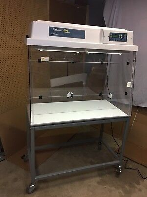 """AirClean Systems 600 Ductless Chemical 48"""" workstation AC648TASB w/ mobile cart"""