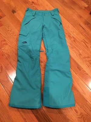 The North Face Hyvent Tourquoise women's snow ski insulated pants size XS Small