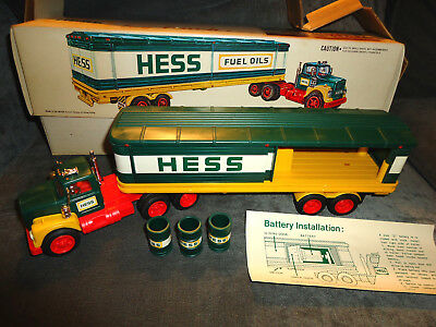 1976 HessTruck in Original Box with Inserts, Barrels-WORKS-EXCELLENT CONDITION!