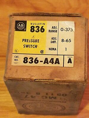 836-A4A  ALLEN BRADLEY PRESSURE SWITCH, new old stock