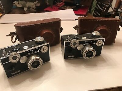 Lot of (2) VINTAGE ARGUS CAMERAS & CASES - Untested