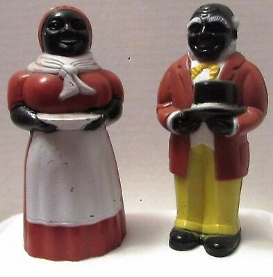 Vintage Aunt Jemima & Uncle Mose Salt & Pepper Shakers ~ Miss Martha Originals