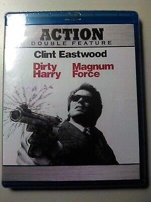 Dirty Harry/Magnum Force (Blu-ray Disc, 2010, 2-Disc Set) NEW Sealed