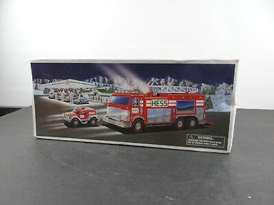 HESS 2005 Toy Emergency Fire Truck with Rescue Vehicle NEW In Box