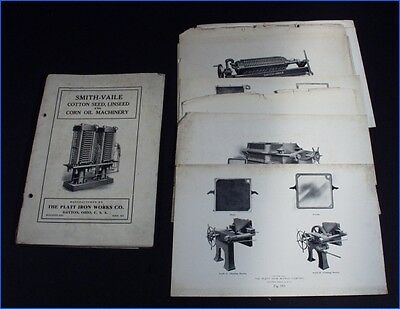 1911 Smith-Vaile Cotton Seed, Linseed & Corn Oil Machinery, Platt Iron Works Co.