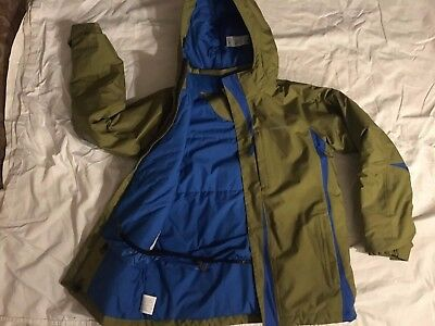 Patagonia boys XL size 14 jacket green/blue preowned great condition