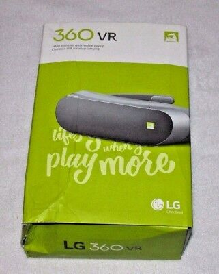 LG 360 VR R100 TitanSilver Virtual Reality Glasses Mobile 3D Video G5