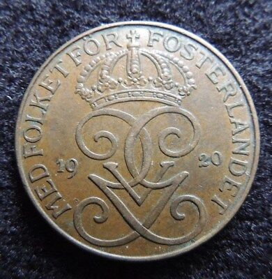 SWEDEN    1920       5  Ore    XF ++       KM-779.2            Great  Gift  Idea