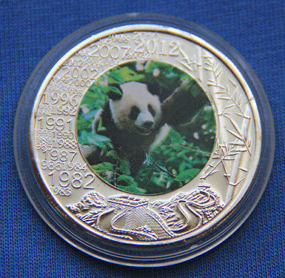 Chinese Giant Panda Silver Colour Coin #406