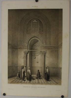 Cairo Egypt Mosque-Madrassa Of Sultan Hassan 1875 Prise D'avennes Antique Plate