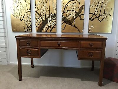 Stunning Chinese Lacquered Hand Painted Painting - Set Of Four