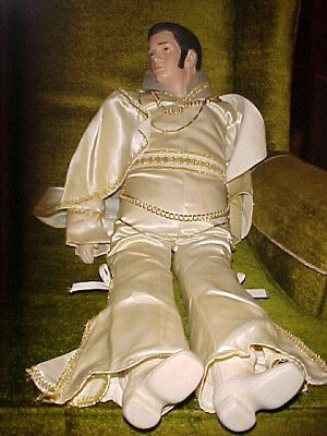 28 inch Vintage Elvis Doll With Satin Jumpsuit and Cape