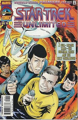 Marvel Comics 1996 STAR TREK UNLIMITED #1-2 Early Series Set Lot  Run TOS TNG