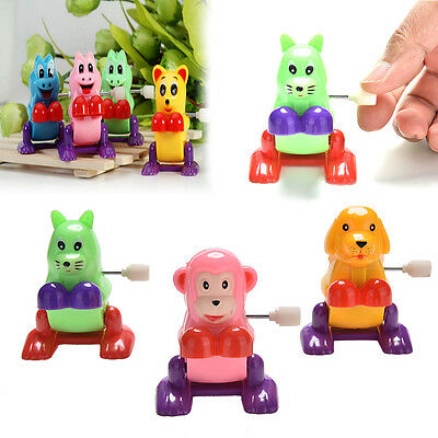1Pc Wind up Animal Colorful Funny Somersault Running Jumping Clockwork ToyFad UQ