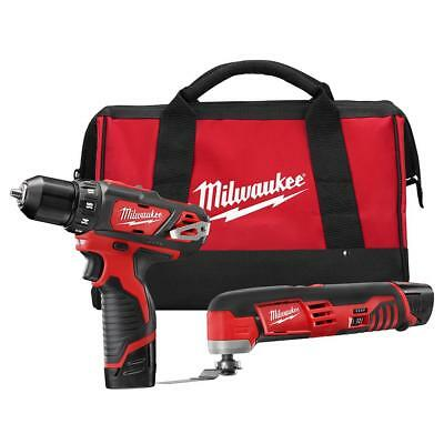 Milwaukee 2495-22 M12 Li-Ion 2-Tool Combo Kit with Drill & Multi-Tool NEW