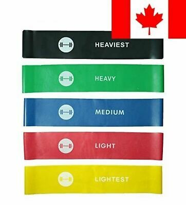 Resistance Loop Bands - elevons Premium High Quality Exercise Bands Set of 5 ...