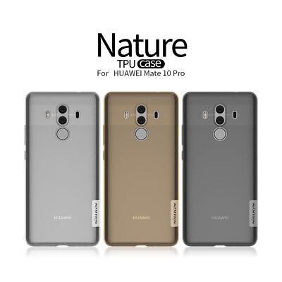 Nillkin Nature Bumper Transparent TPU Back Covers Cases For HUAWEI Mate 10 Pro