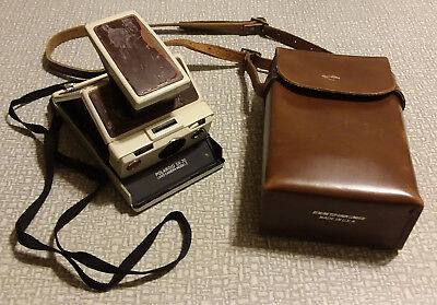 Polaroid SX-70 Model 2 with Case - Land Camera - White and Brown