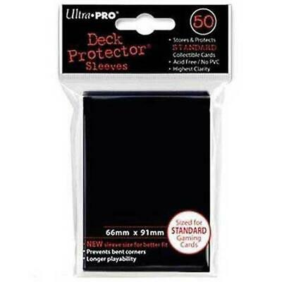 ULTRA PRO Deck Protector Sleeves Standard 50ct 66 x 91 Raven Black MTG Pokemon