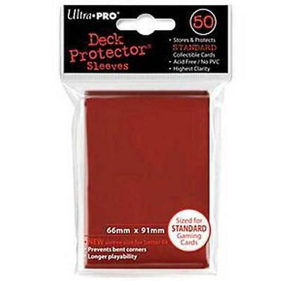 ULTRA PRO Deck Protector Sleeves Standard 50ct 66 x 91 Lava Red MTG Pokemon