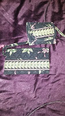 Lot Of 2 Vera Bradley New Hope Wallet & Wristlet Case Black