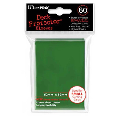 ULTRA PRO Deck Protector Sleeves Small 60ct 62 x 89 Green Yugioh