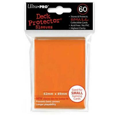 ULTRA PRO Deck Protector Sleeves Small 60ct 62 x 89 Orange Yugioh