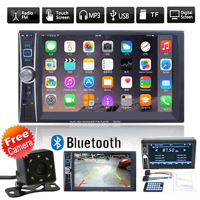"6.6"" Double 2DIN Car MP5 MP3 Player Bluetooth USB smart FM Stereo Radio w/Camera"