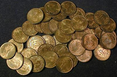 Roll of 50 Coins Choice Uncirculated 1926 British India 1/12 ANNA's