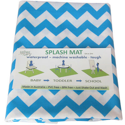 Splash Mat High chair Splat Mat Made in Australia Waterproof Floor Cover Blue