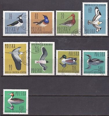Poland 1964 Birds Full Set CTO Cat £4.25
