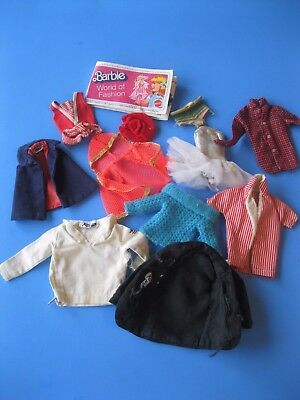 Vintage Barbie Doll CLOTHES LOT Clothing Tagged Restore tlc Mattel 60's